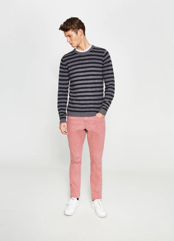 Skinny-fit stretch cotton trousers | OVS