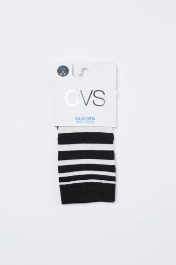 Stretch striped short socks