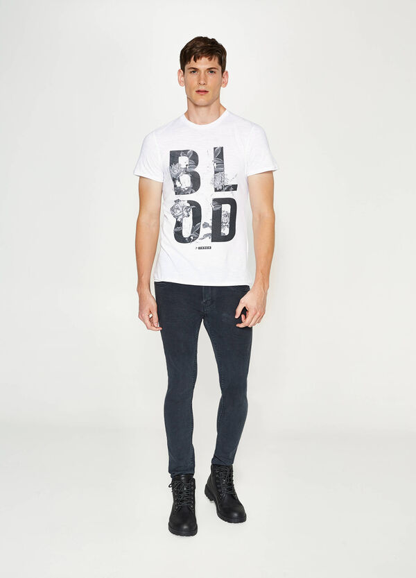 T-shirt in cotone stampa lettering   OVS