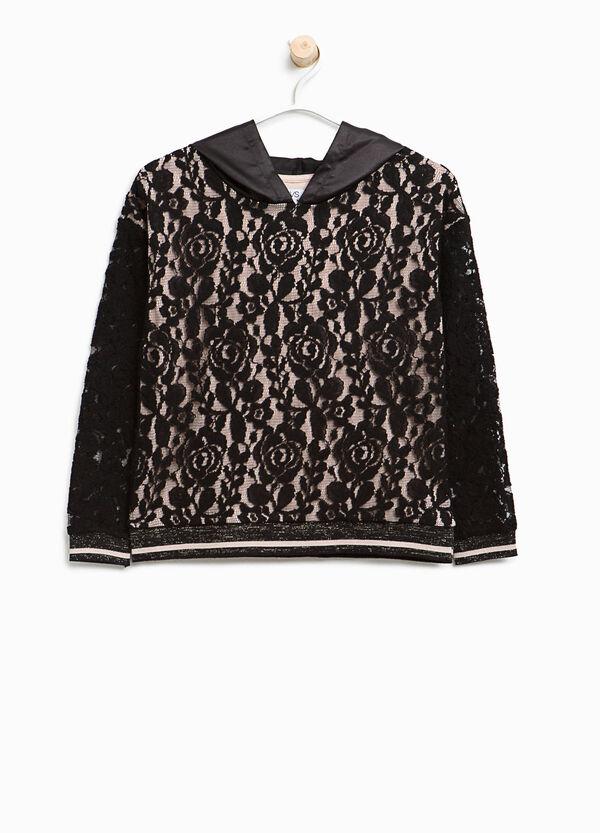 T-shirt in pizzo di cotone con fodera | OVS