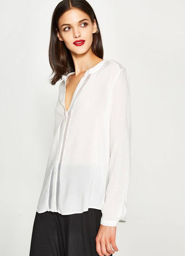 Shirt with openwork design   OVS