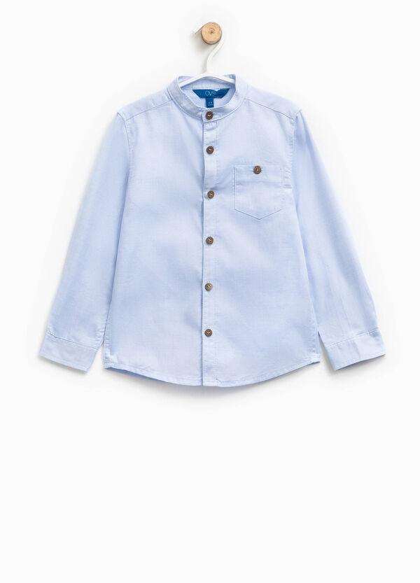 Camicia in cotone colletto coreana | OVS