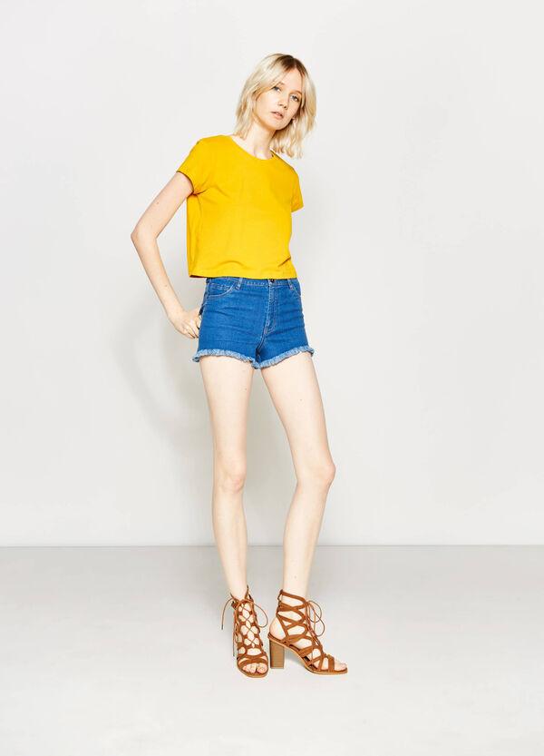 Shorts di jeans a vita alta | OVS