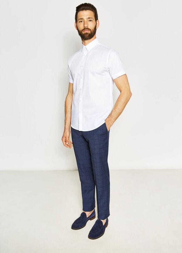 Camicia casual regular fit trama a righe | OVS