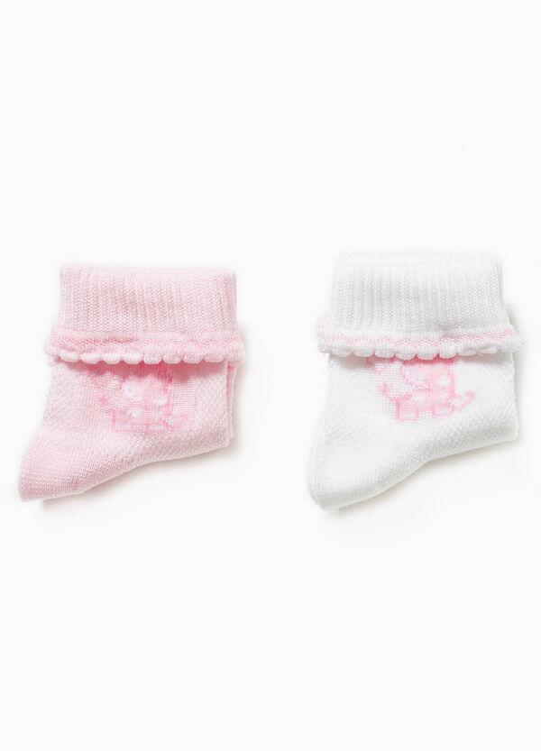 Set due paia di calze con ricamo | OVS