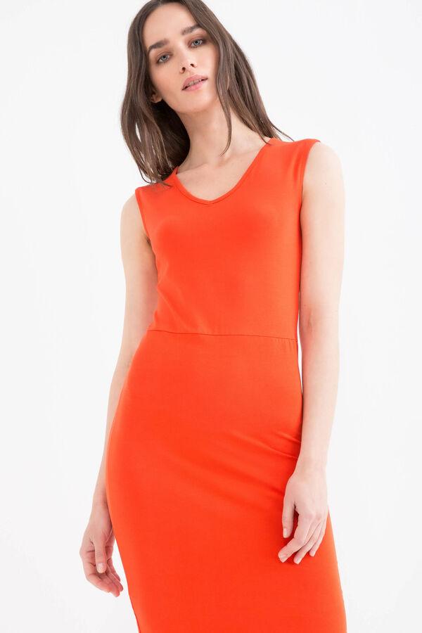 Stretch cotton tube dress | OVS