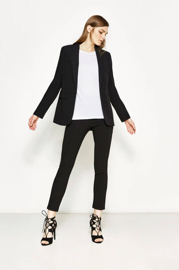 Stretch trousers with elasticated waist