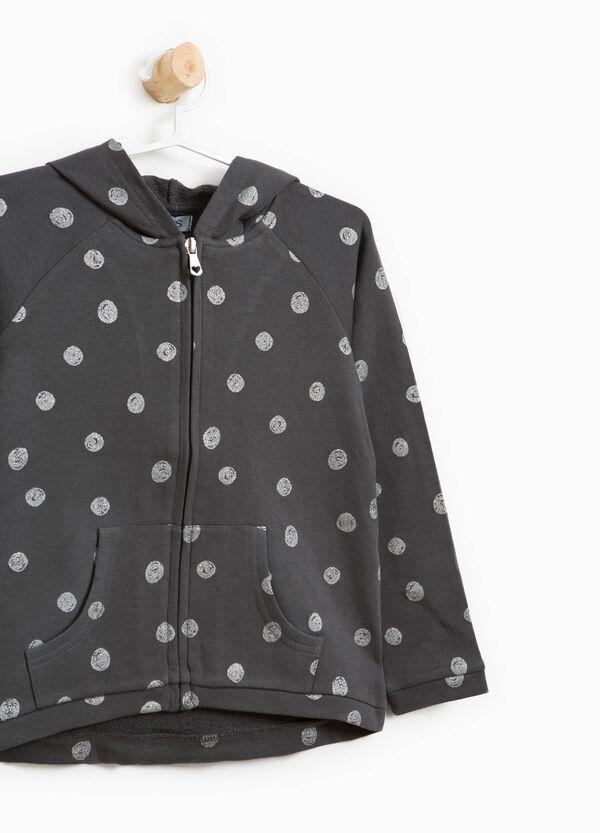 Polka dot pattern sweatshirt in 100% cotton | OVS
