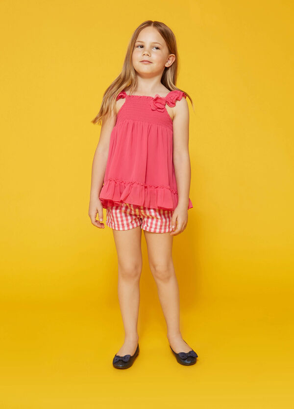 Sleeveless shirt with flower | OVS