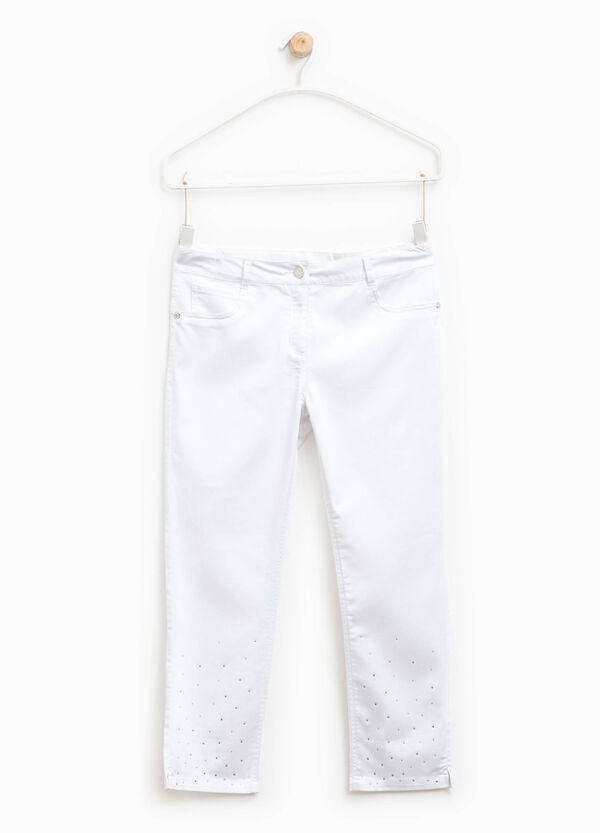 Stretch trousers with diamantés   OVS