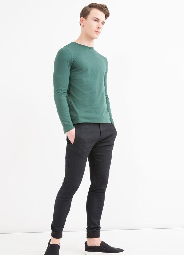 T-shirt maniche lunghe in cotone   OVS
