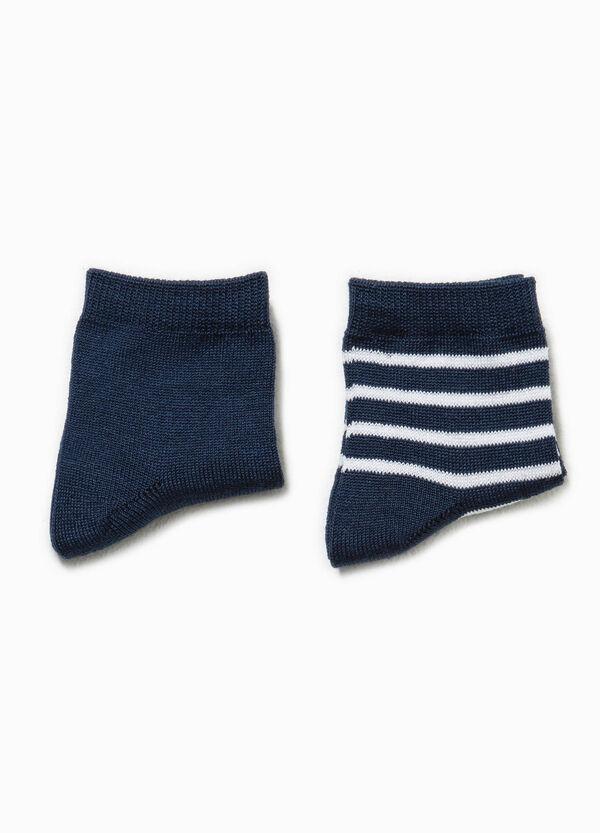 Set due paia di calze righe e unito | OVS