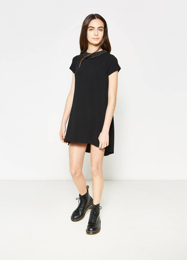 Teen knitted dress with asymmetric hem | OVS