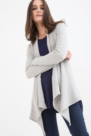 Cardigan with flared bottom
