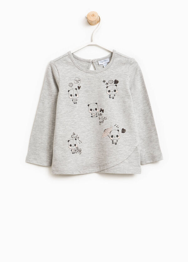 Crossover T-shirt with panda print | OVS