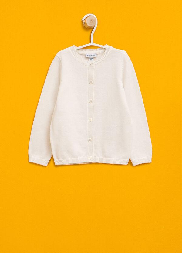 Cardigan girocollo in puro cotone | OVS