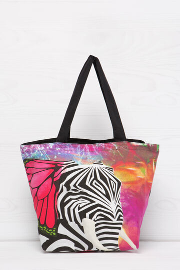 Cotton shopping bag with print