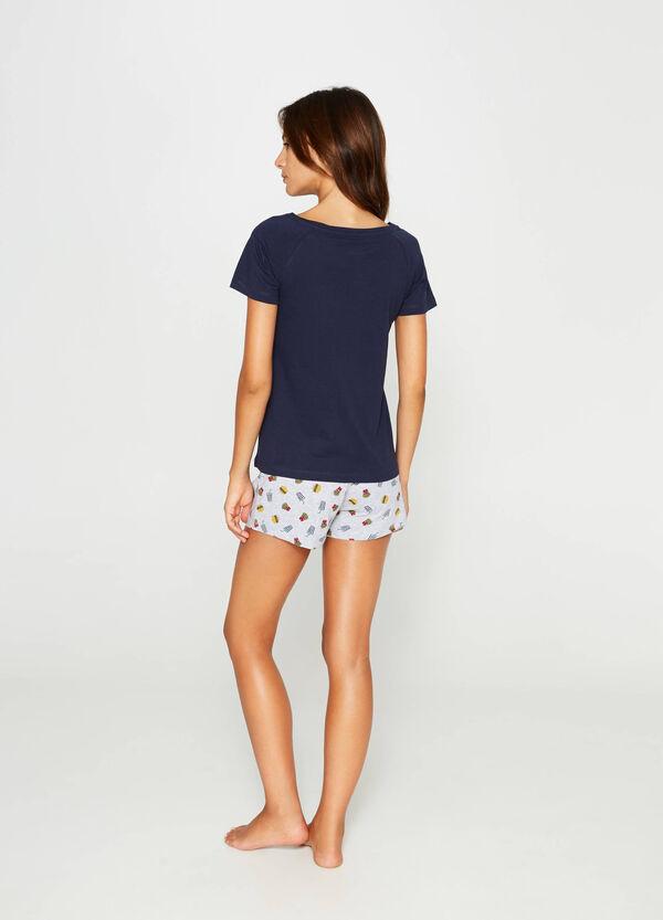 Pyjamas in 100% cotton with hamburger pattern | OVS