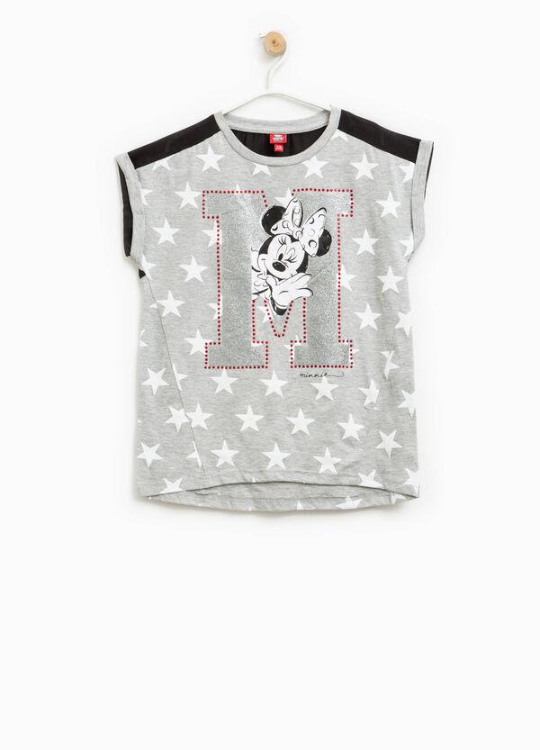 T-shirt fantasia stelle e stampa Minnie   OVS