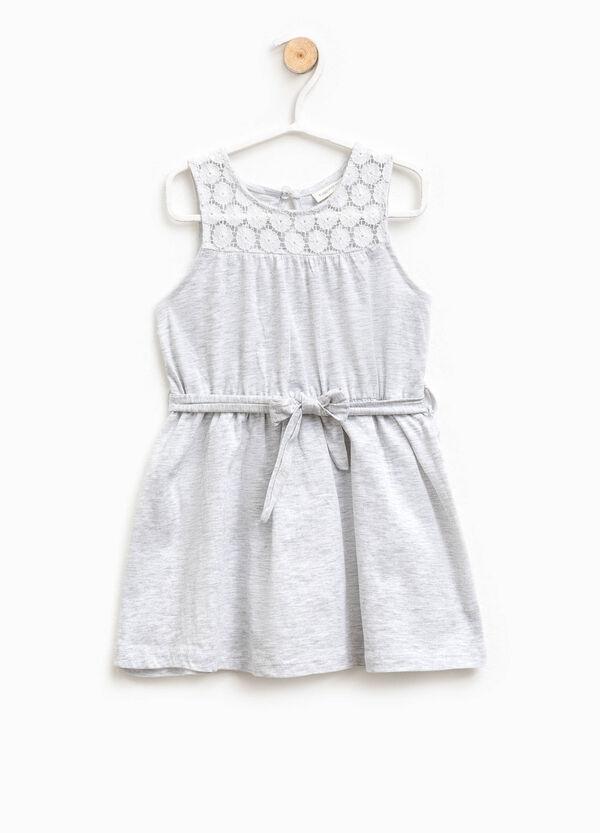 Sleeveless dress with lace | OVS