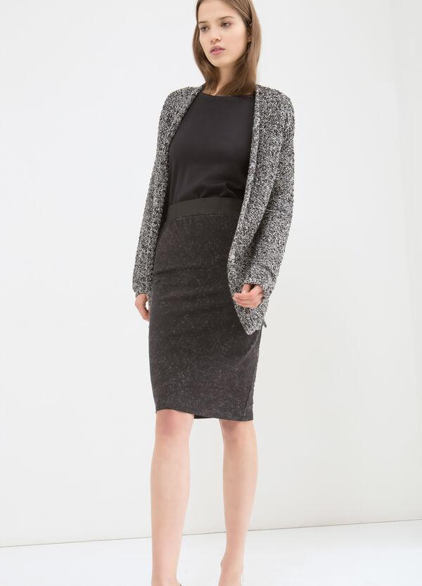 Stretch cotton longuette skirt | OVS