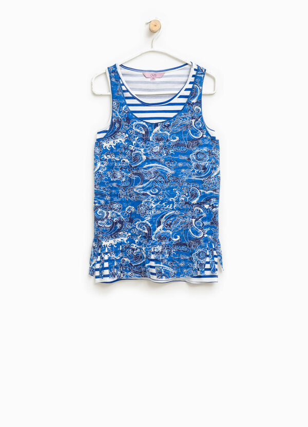 Set of two tops patterned with fringing and striped | OVS