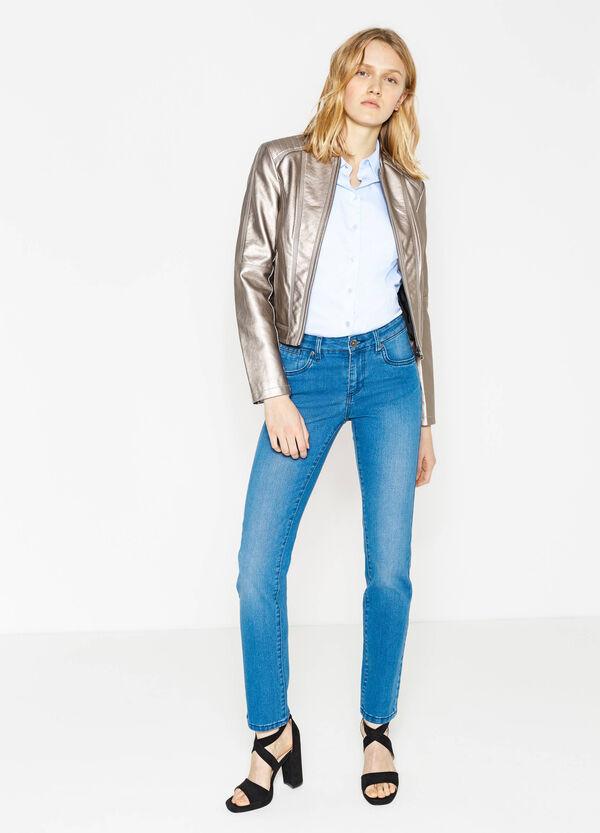 Jeans regular fit stretch tinta unita | OVS