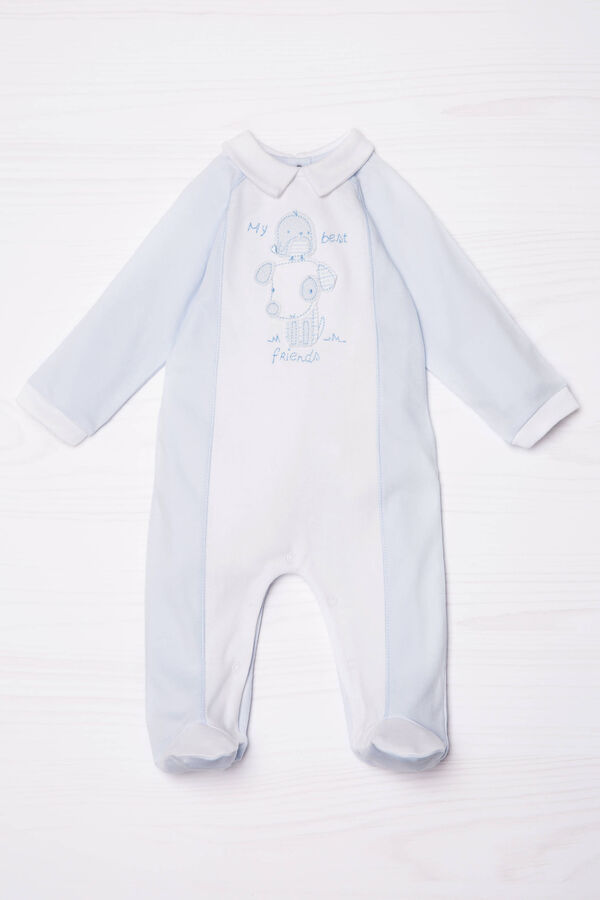 100% cotton onesie with central patch.   OVS