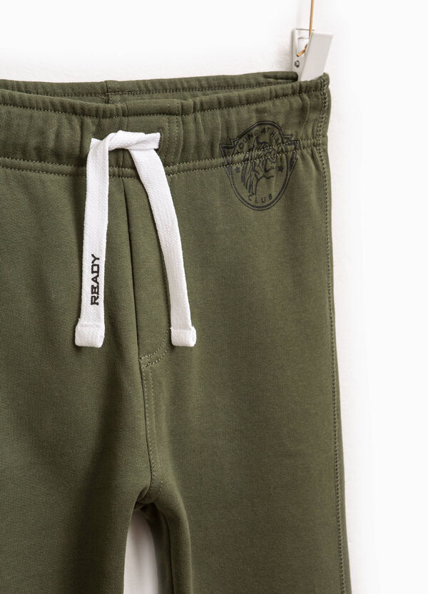 Pantaloni tuta cotone stampa e coulisse | OVS