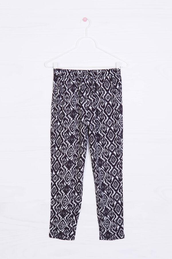 Pantaloni viscosa stampa all-over | OVS