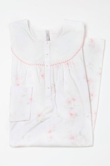 Curvy floral cotton nightshirt
