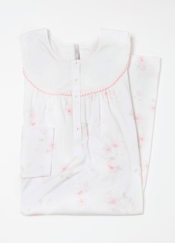 Curvy floral cotton nightshirt | OVS