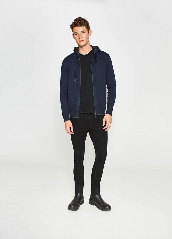 Cardigan in cotone con cappuccio   OVS