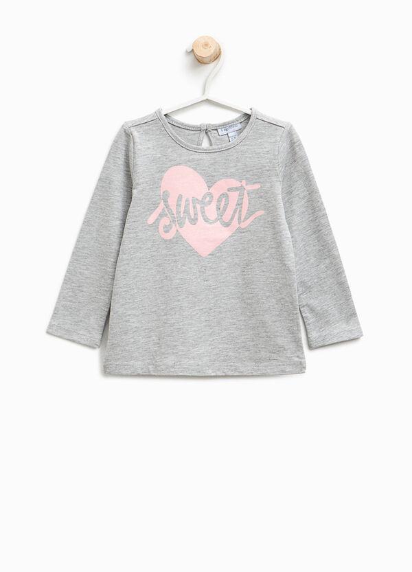 T-shirt in puro cotone stampata lettering | OVS