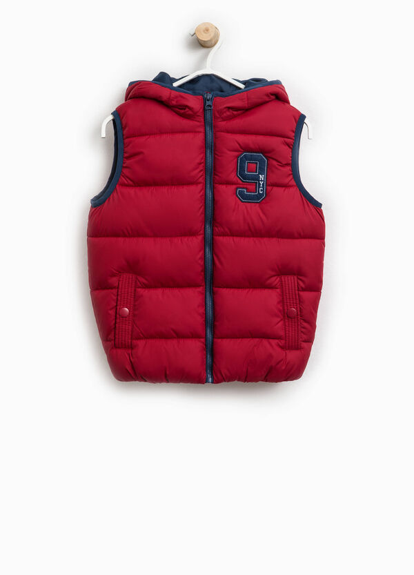 Padded gilet with lettering patch   OVS