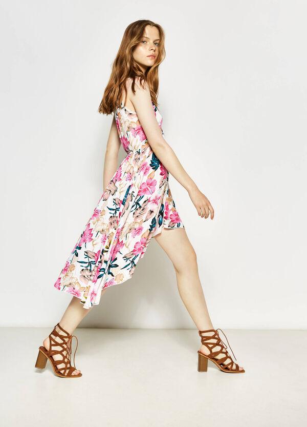 Floral dress with asymmetric hem | OVS