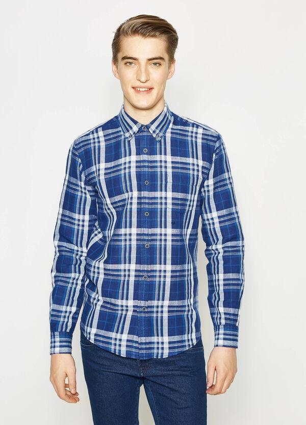 Camicia casual in lino tartan | OVS