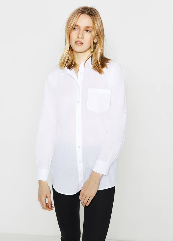 Camicia in puro cotone micro righe | OVS