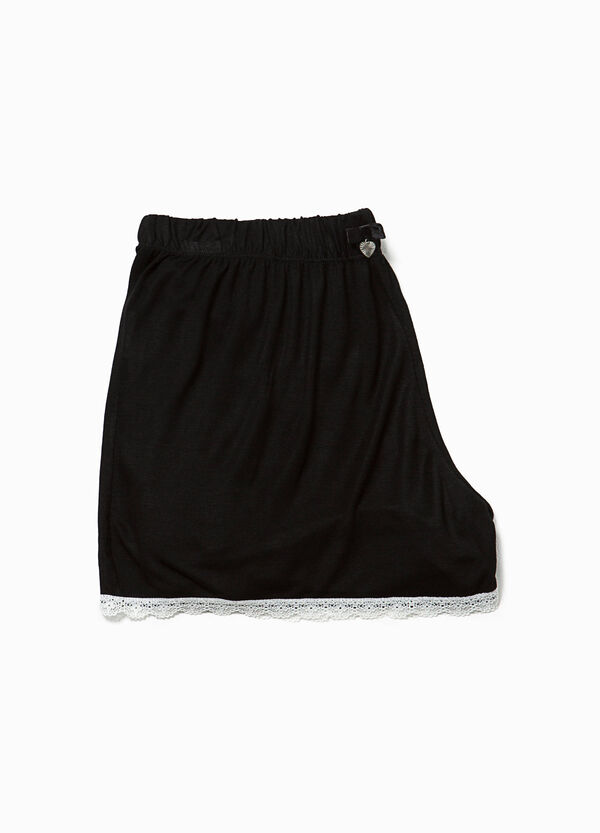 Shorts pigiama in pura viscosa con pizzo | OVS