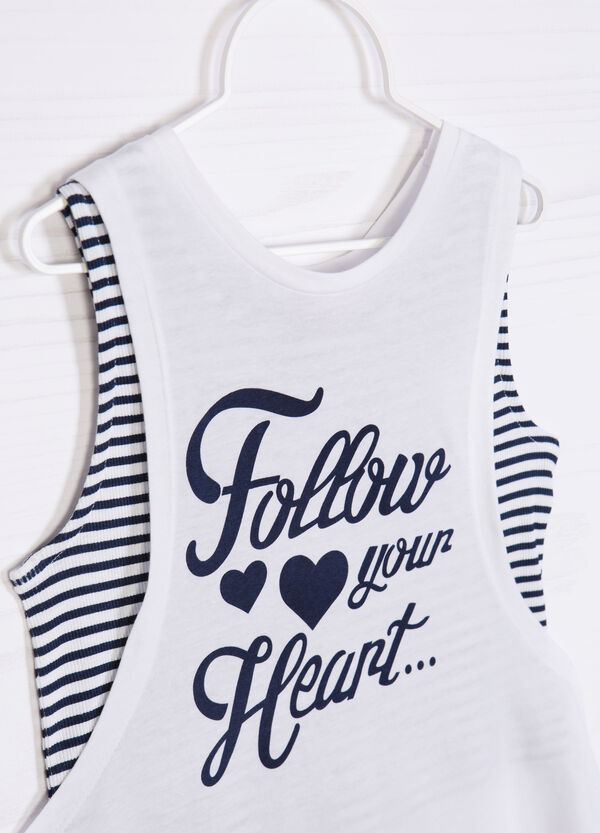 Top and vest set with print   OVS