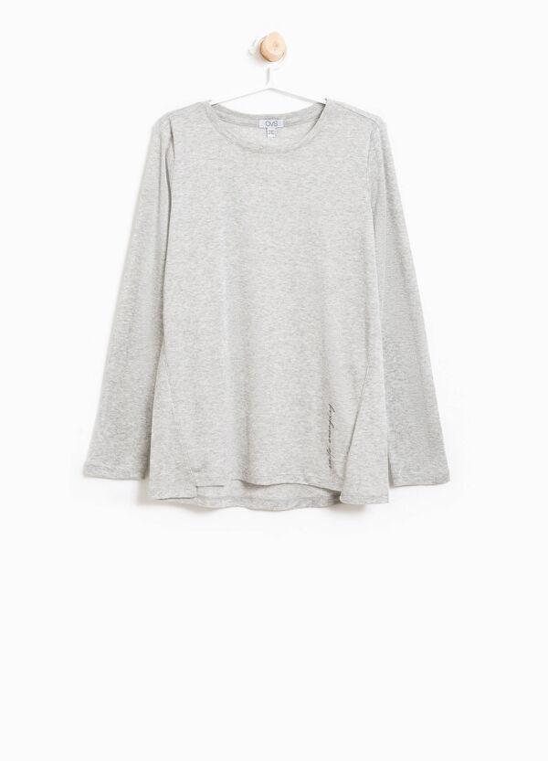 T-shirt in viscosa con lurex stampata | OVS