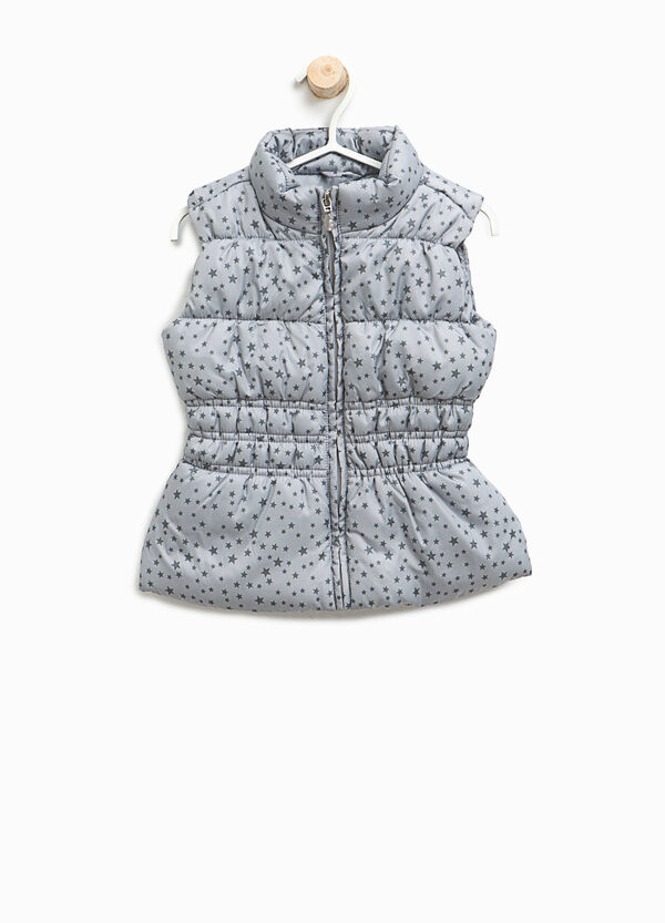 Quilted gilet with printed stars | OVS