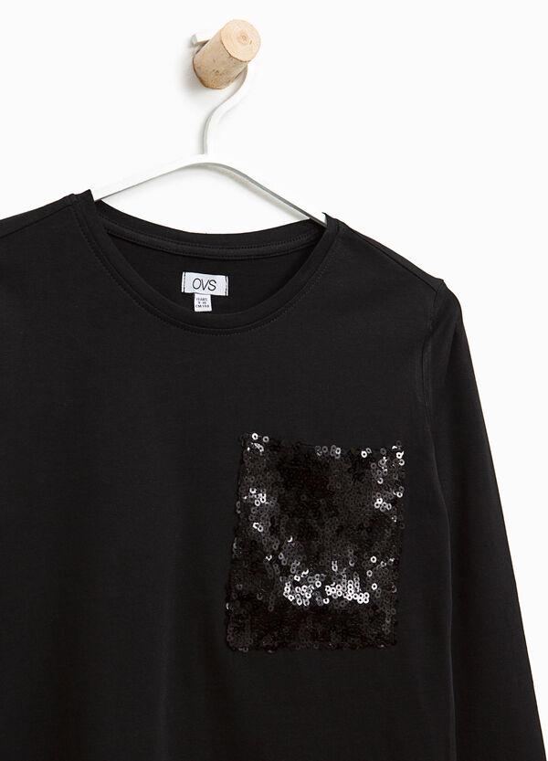 T-shirt con taschino di paillettes | OVS