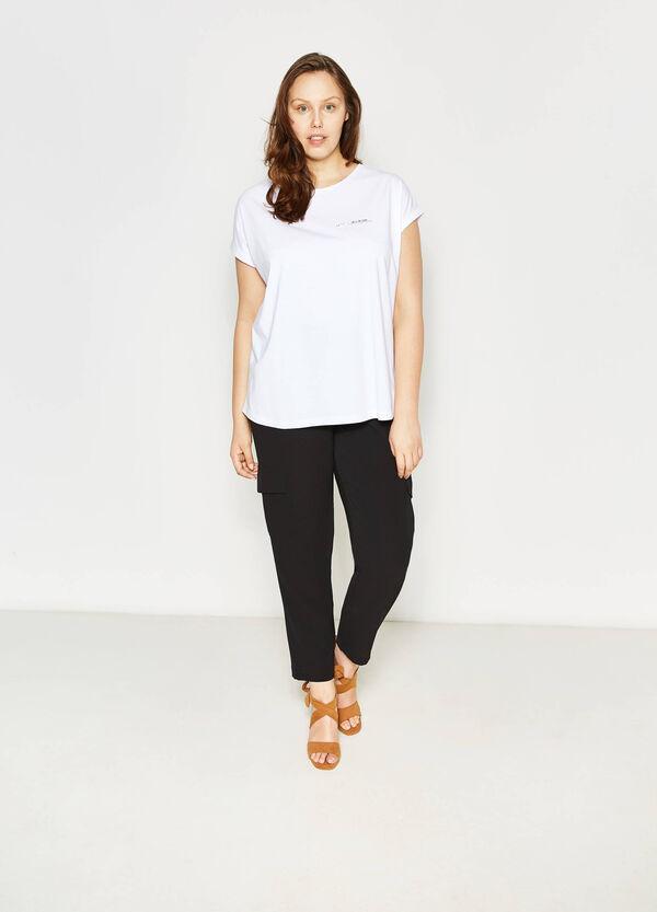 T-shirt cotone con stampa Curvy   OVS