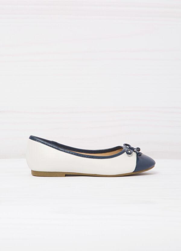 Round toe leather-look ballerina flats | OVS