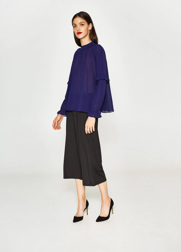 Blouse with raglan sleeves and flounce   OVS