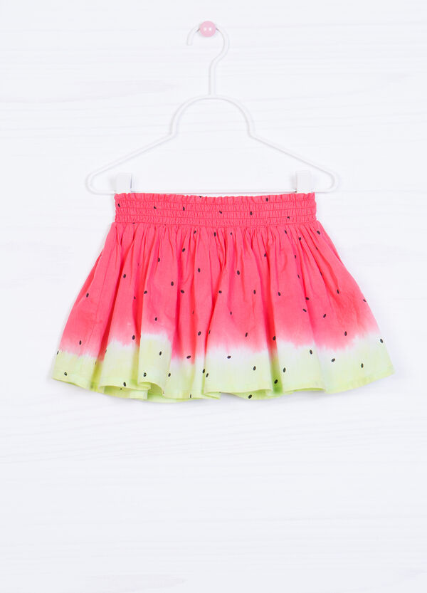 100% cotton watermelon patterned skirt | OVS