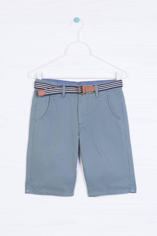 100% cotton Bermuda shorts with belt   OVS