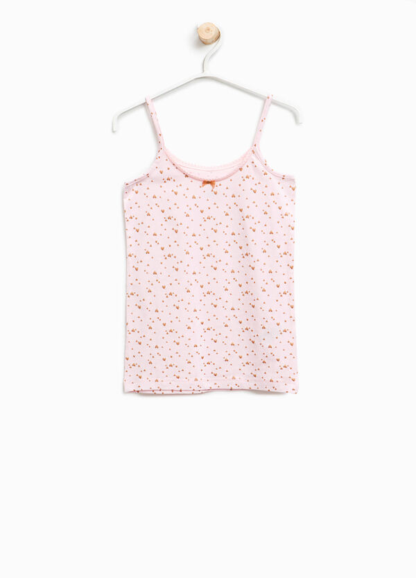 Organic cotton under top with hearts | OVS