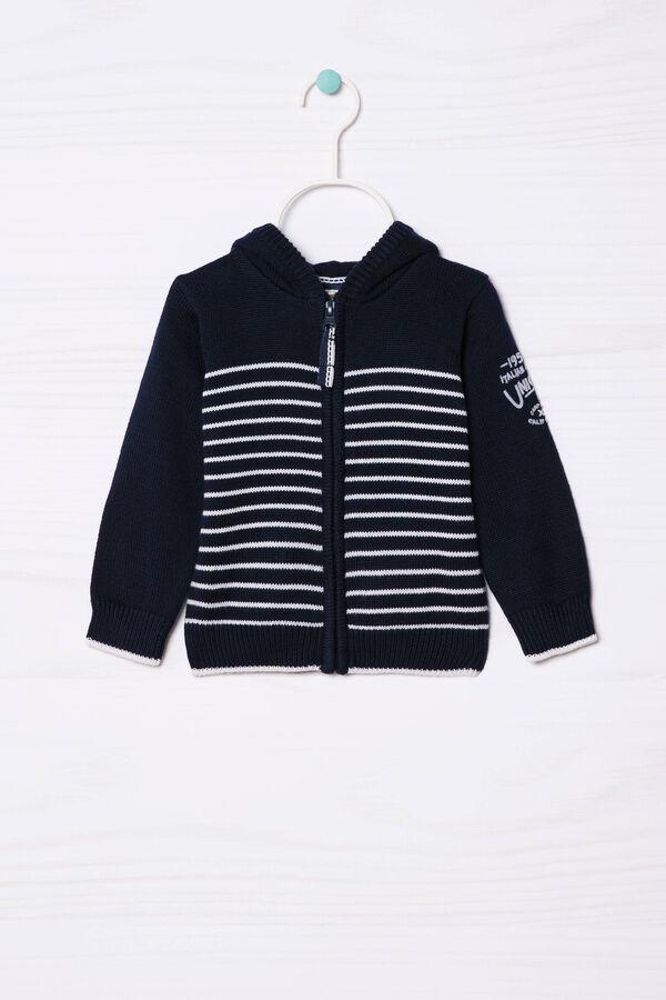 Pullover tricot cotone con zip   OVS